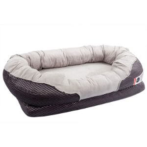 BarksBar Gray Orthopedic Dog Bed
