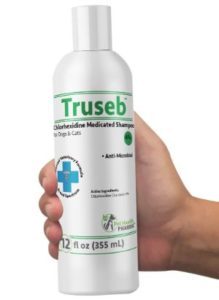 Truseb Wipes Medicated Shampoo for Dogs with Chlorhexidine