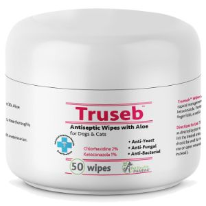 Truseb Wipes Medicated Wipes for Dogs with Chlorhexidine