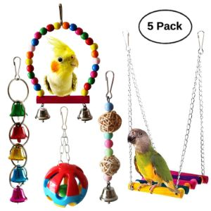 BWOGUE 5pcs Bird Toy Set