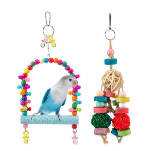 MEWTOGO Bird Swing and Hanging Toy