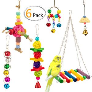 MEWTOGO Large and Small Parrot Toy Set