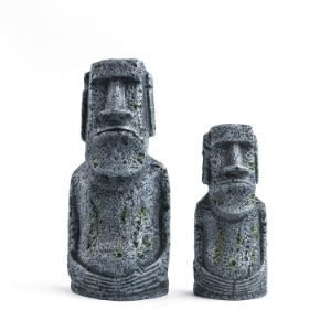 Niteangel Ancient Easter Island Stone Head Aquarium Ornament