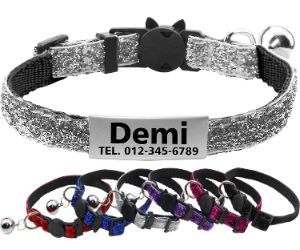 FunTags Reflective Personalized Cat Collar