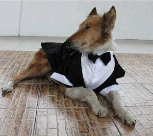 Evursua Large Dog Tuxedo Costume