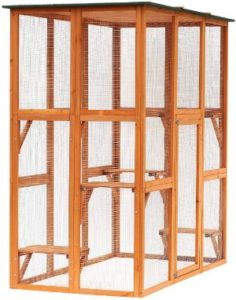 PawHut Large Wooden Outdoor Catio Cage