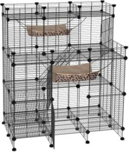 Songmics Multi-Tier Cat Cage