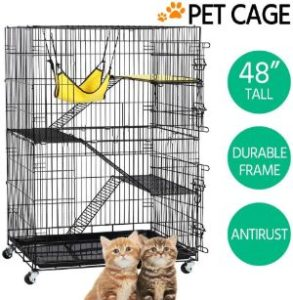 Topeakmart Rolling Cat Cage