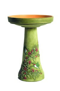 Burley Clay Hummingbird Bird Bath