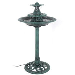 Nova 3-Tier Pedestal Bird Bath Fountain
