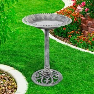 Pure Garden Antique Bird Bath