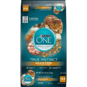 Purina ONE True Instinct Grain Free High Protein Adult Dry and Wet Cat Food