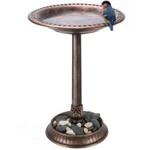 VIVOSUN 2-in-1 Outdoor Garden Bird Bath