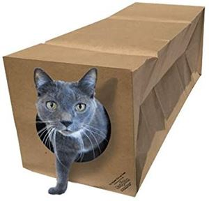 Dezi & Roo Hide and Sneak Collapsible Paper Cat Tunnel