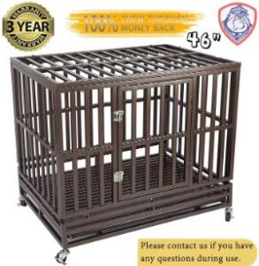 Gelinzon Heavy Duty Dog Crate