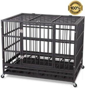 JY QAQA PET Heavy Duty Dog Cage