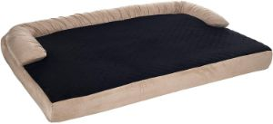 PETMAKER Orthopedic Memory Foam Pet Bed with Bolster