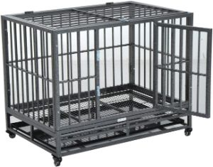 PawHut Heavy Duty Steel Dog Crate
