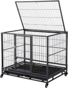 Yaheetech Heavy Duty Metal Dog Crate