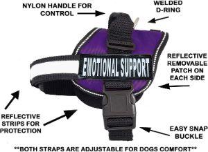 Doggie Stylz Emotional Support Nylon Dog Vest