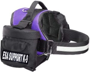 Doggie Stylz ESA Harness with 2 Removable Saddle Bags