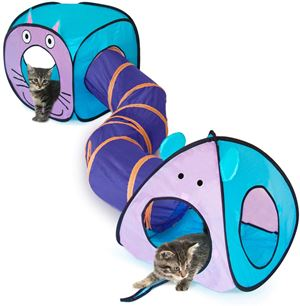 eenk Cat Toy Tunnel and Cubes Bundle