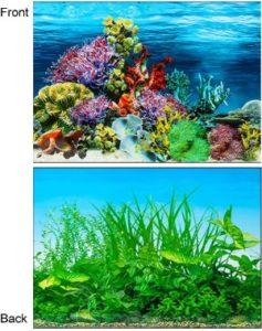 AZLZM Double-Sided Aquarium Background