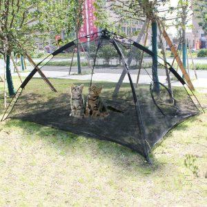 HI SUYI Large Portable Outdoor Cat Tent