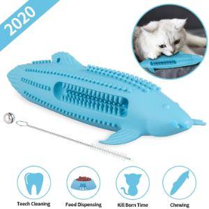 HIRALIY Catnip Toys Natural Rubber Interactive Cat Toothbrush