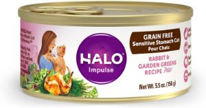 Halo Grain Free Natural Wet Cat Food for Sensitive Stomachs