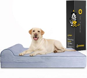 High Grade Orthopedic Memory Foam Dog Bed With Pillow