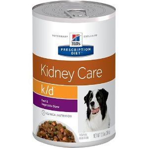 Hill's Pet Nutrition Kd Kidney Care Beef & Vegetable Stew Canned Dog Food