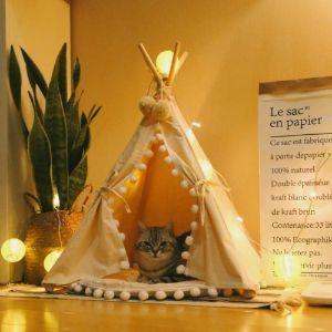 Little Dove Fold Away Cat Teepee Tent