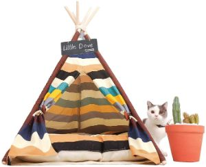 Little Dove Portable Cat Teepee Tent