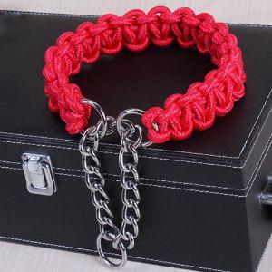NOVMAY Braided Nylon Heavy Duty Martingale Dog Collar