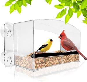 Nature Gear Crystal View Window Bird Feeder