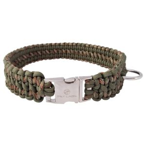 Pet Labs Paracord Dog Collar with Buckle – Camo