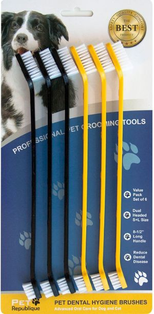 Pet Republique Dog Toothbrush Series Cat and Dog Handle Toothbrush