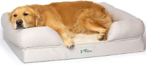 PetFusion Ultimate Orthopedic Memory Foam Dog Bed With Support Bolster