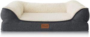 Petsure Memory Foam Bolster Dog Bed