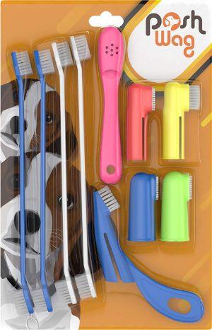 PoshWag Dog Cat Toothbrush Set Kit