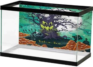 SLLART Halloween Spooky Tree Fish Tank Background