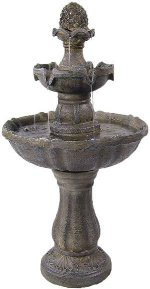 Sunnydaze Pineapple Solar Water Fountain