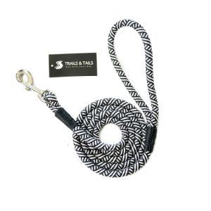 Trails & Tails Black and White Rope Dog Leash