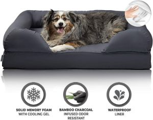 Zermätte Cooling Gel Memory Foam Dog Bed