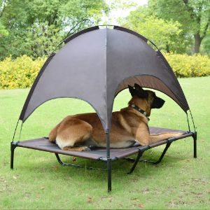 Niubya Elevated Dog Cot with Canopy