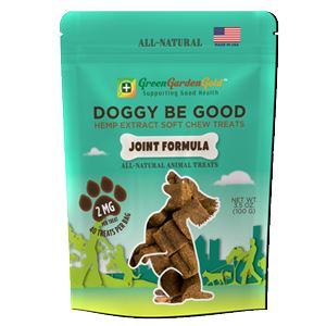 Green Garden Gold Doggy Be Good CBD Soft Chew Treats Joint Formula