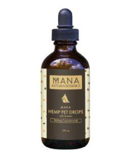 ManaBotanics Hemp Pet Drops: with Turmeric