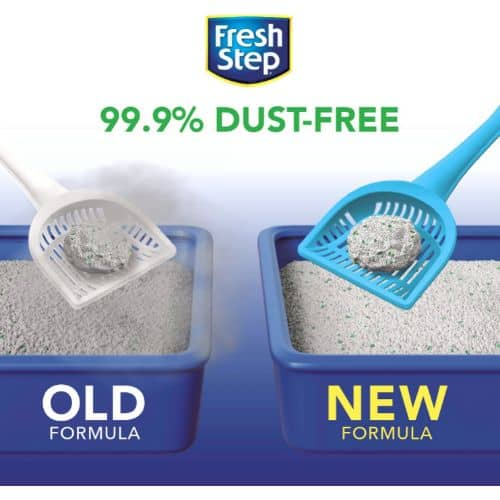 Fresh Step Febreze Freshness Gain Scented Clumping Clay Cat Litter dust-free comparison
