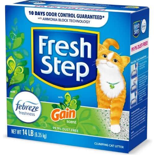 Fresh Step Febreze Freshness Gain Scented Clumping Clay Cat Litter